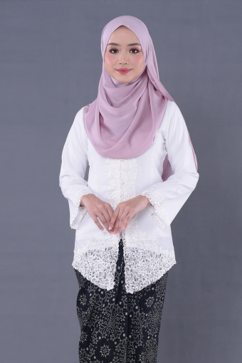 Kebaya Mulan 2.0 - White (Top Only)